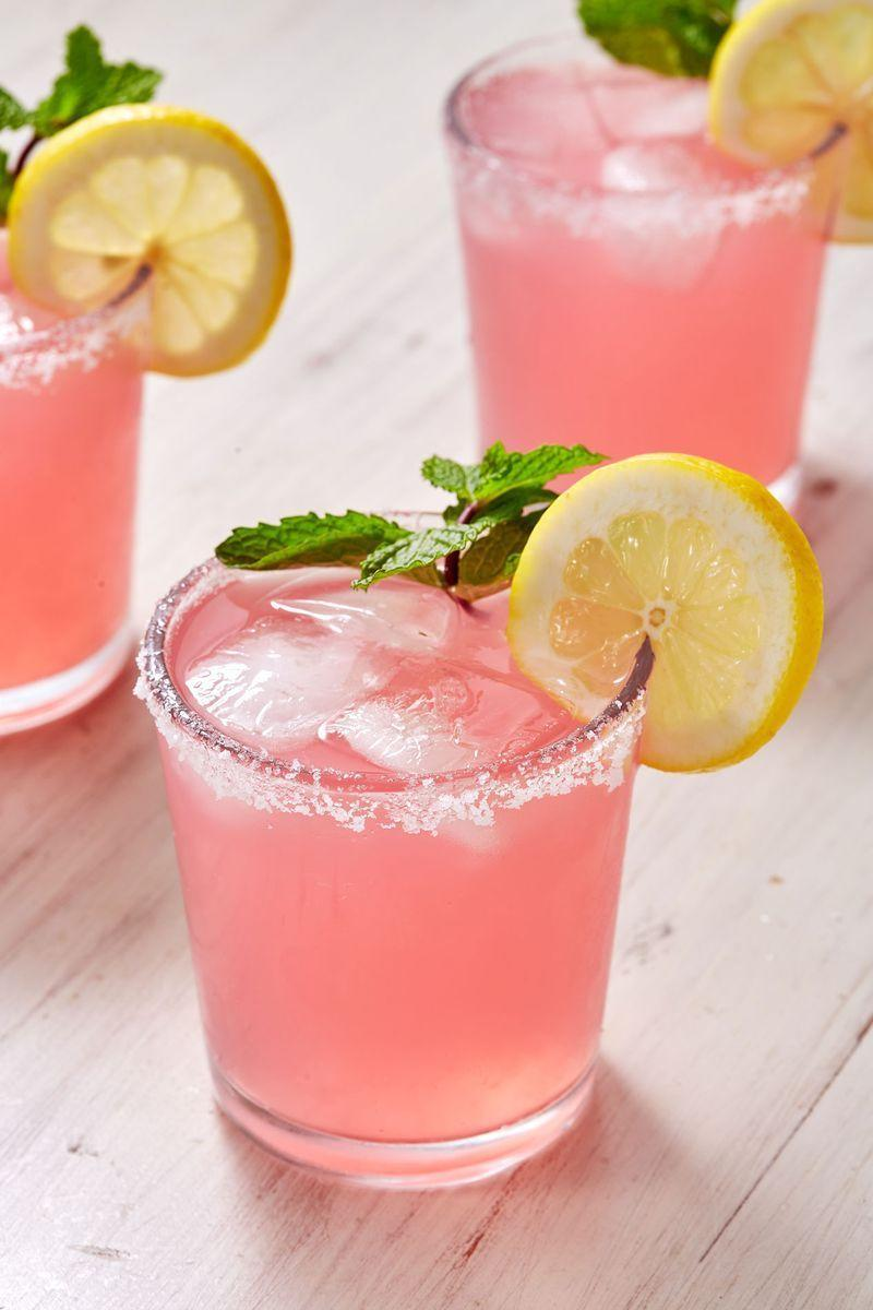 "<p>Like a <a href=""https://www.delish.com/uk/cocktails-drinks/a29189575/margarita-recipe/"" rel=""nofollow noopener"" target=""_blank"" data-ylk=""slk:Margarita"" class=""link rapid-noclick-resp"">Margarita</a> with a softer, cuter side, the Señorita ditches limes for pink lemonade and lemon juice. It's the drink you'll want for every girl's night. </p><p>Get the <a href=""https://www.delish.com/uk/cocktails-drinks/a30595712/pink-senoritas-recipe/"" rel=""nofollow noopener"" target=""_blank"" data-ylk=""slk:Pink Señoritas"" class=""link rapid-noclick-resp"">Pink Señoritas</a> recipe.</p>"