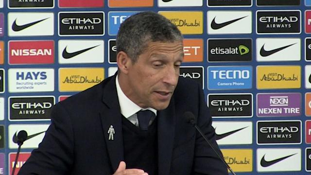 EPL - MCFC 3 BHAFC 1 - Brighton manager Chris Hughton post match press conference