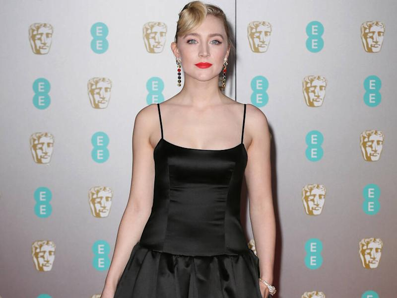 Saoirse Ronan chose gown made from satin offcuts for 2020 BAFTAs