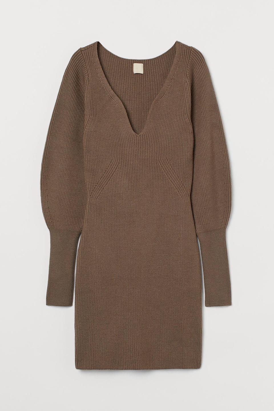 <p>This sultry <span>H&amp;M Rib-knit Dress</span> ($70) will become a closet favorite.</p>