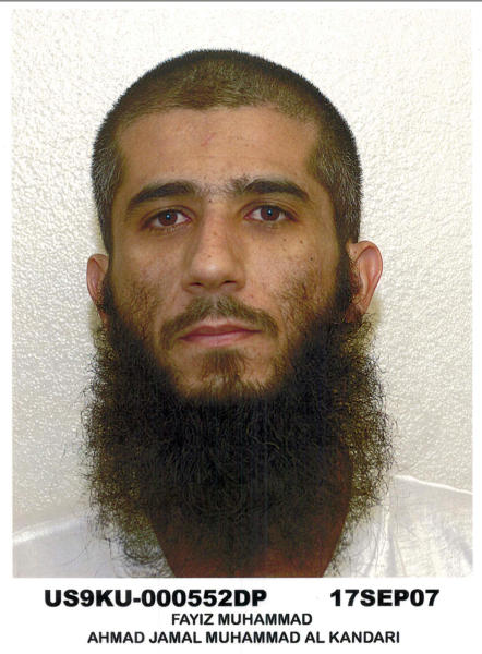 "In this Sept. 17, 2007 photo released on Aug. 13, 2013 by defense lawyer U.S. Air Force Lt. Col. Barry Wingard, detainee Faez al-Kandari, 36, is shown in Guantanamo Bay U.S. Naval Base. Faez al-Kandari is a Kuwaiti who has been held for more than 11 years at the Guantanamo Bay prison. The Pentagon says the roughly 50 men in the indefinite detention category are held under international laws of war until the ""end of hostilities,"" whenever that may be. As a group, they are one of the chief hurdles to President Barack Obama's attempts to close the detention center on the U.S. base in Cuba. (AP Photo/Courtesy of defense lawyer U.S. Air Force Lt. Col. Barry Wingard)"