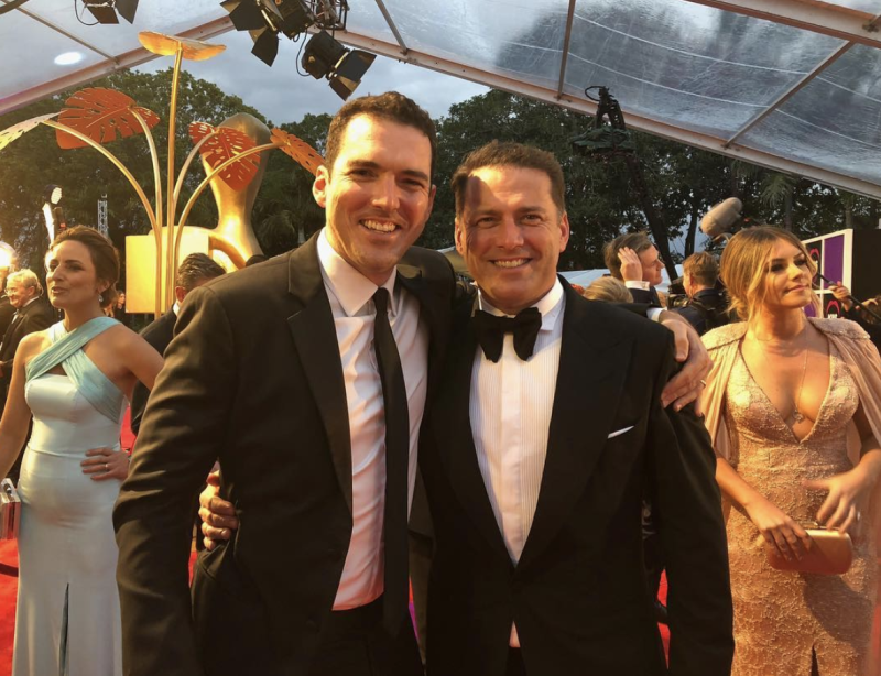 Karl and Peter Stefanovic at the Logies