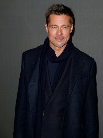 """FILE PHOTO: Actor Brad Pitt poses at the premiere of the film """"Allied"""" in Paris, France on November 20, 2016. REUTERS/Benoit Tessier/File Photo"""