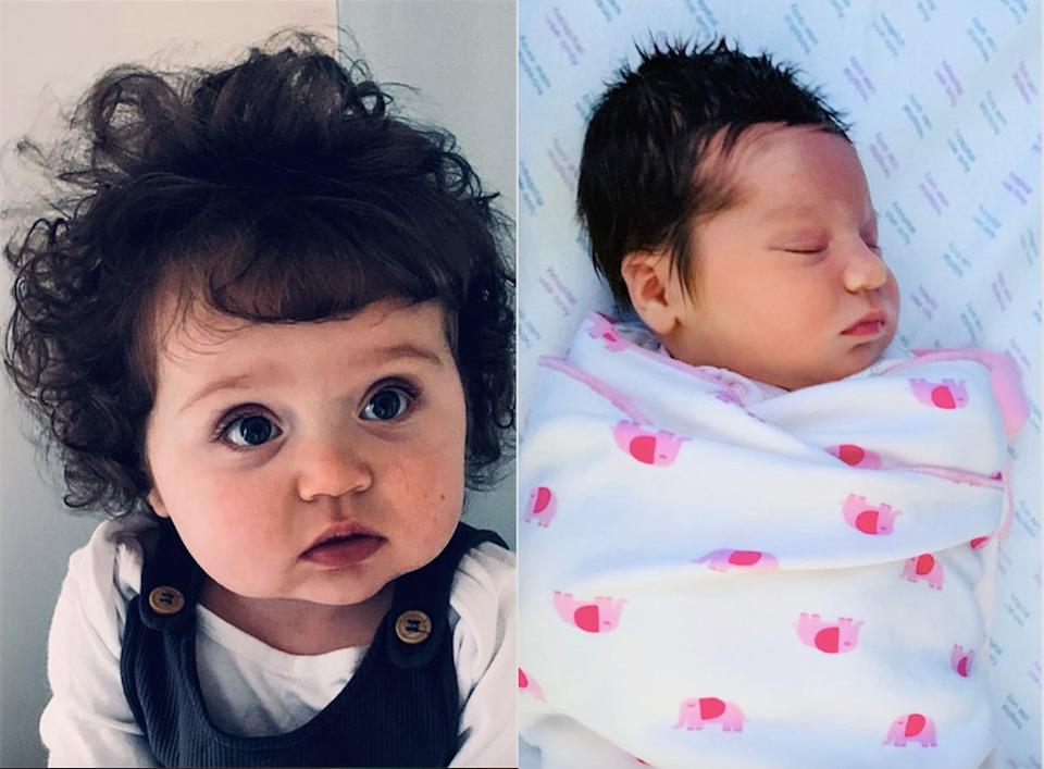 A baby born with a full head of hair is often mistaken for a toddler. (Caters)