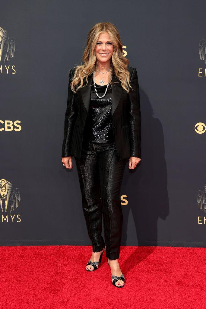 Rita Wilson attends the 73rd Primetime Emmy Awards on Sept. 19 at L.A. LIVE in Los Angeles. (Photo: Rich Fury/Getty Images)
