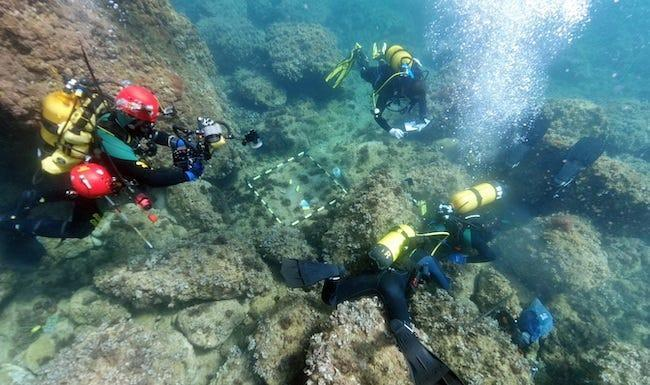 Amateur freedivers found a large collection of gold Roman coins off the coast of Spain.