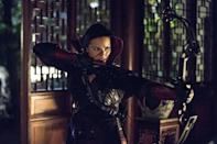 """<p>""""I'll get a first draft of the script for an episode and will form an idea of what bow will work for that character or episode. I'll choose a few bows that will work for the character and then the production department makes the final choice,"""" Gonsalves told <a href=""""https://www.archery360.com/2014/10/09/exclusive-arrow-archery-expert-talks-season-3/"""" rel=""""nofollow noopener"""" target=""""_blank"""" data-ylk=""""slk:Archery 360"""" class=""""link rapid-noclick-resp""""><em>Archery 360</em></a>.</p>"""