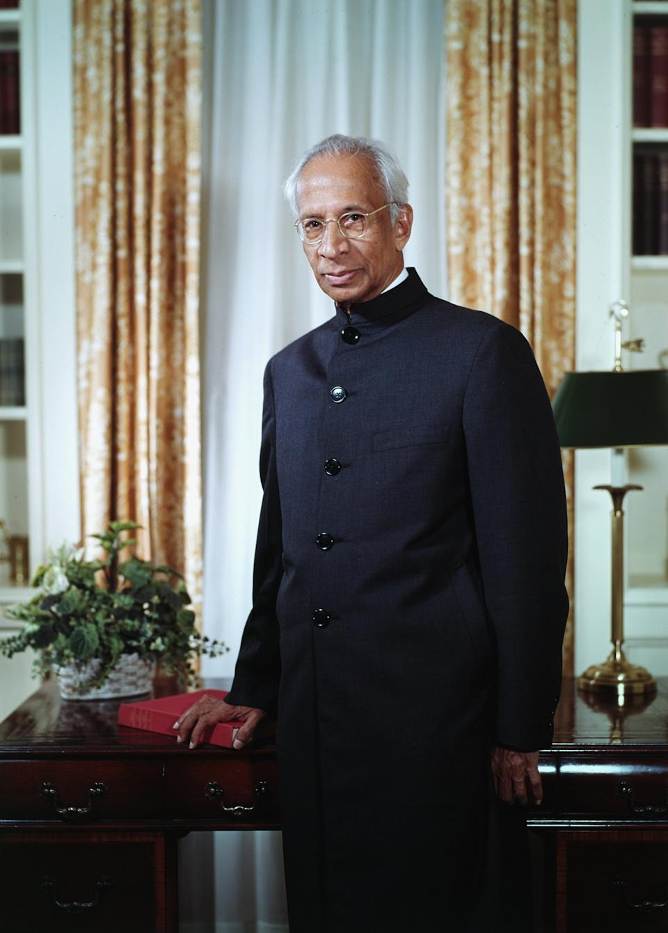 Sarvepalli Radhakrishnan was a statesman par excellence, and was India's first Vice President of India and the second President of of the nation. <em>Sarvapelli Radhakrishnan (1888 - 1975), the Indian statesman was the second President of India, serving from 1962 to 1967. Portrait in New York, 1963. (Photo by Bachrach/Getty Images)</em>