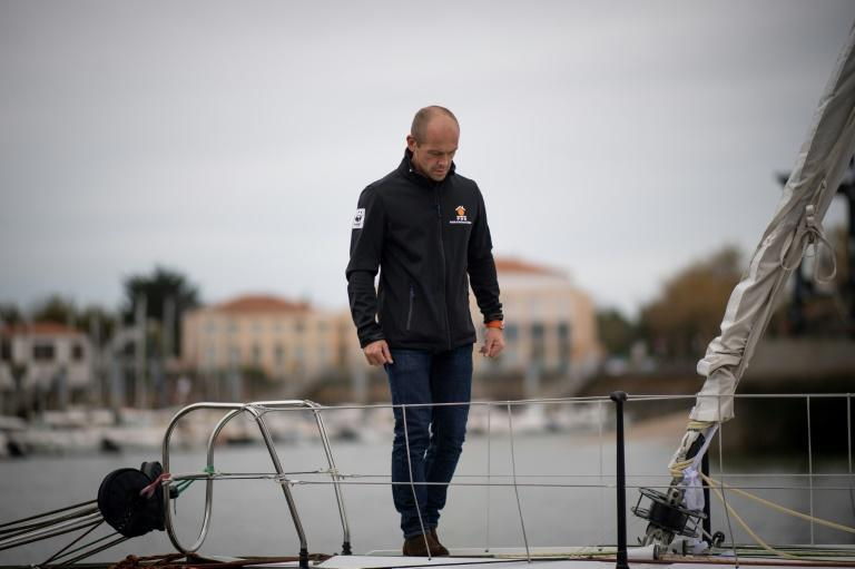 A time for reflection for French sailor Kevin Escoffier and the other 32 skippers preparing to set off on Sunday at the start of the 9th Vendee Globe