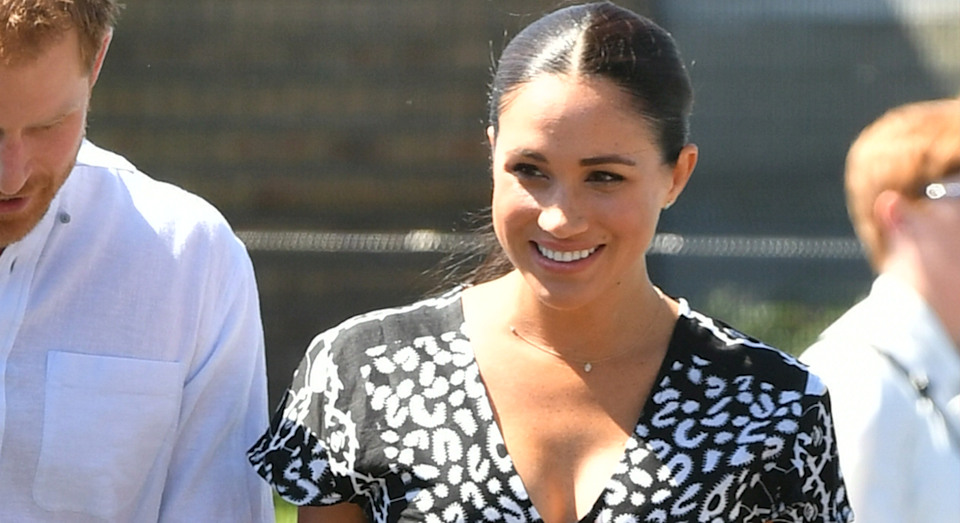 Meghan Markle pays homage to South Africa with first outfit of the royal tour [Photo: PA]