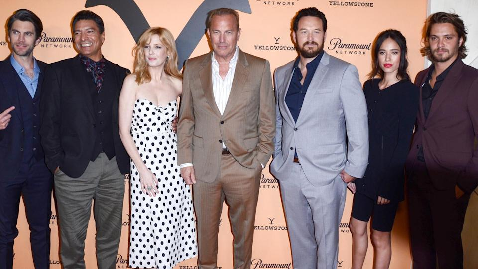 """LOS ANGELES - MAY 30: Cast at the """"Yellowstone"""" Season 2 Premiere Party at the Lombardi House on May 30, 2019 in Los Angeles, CA."""