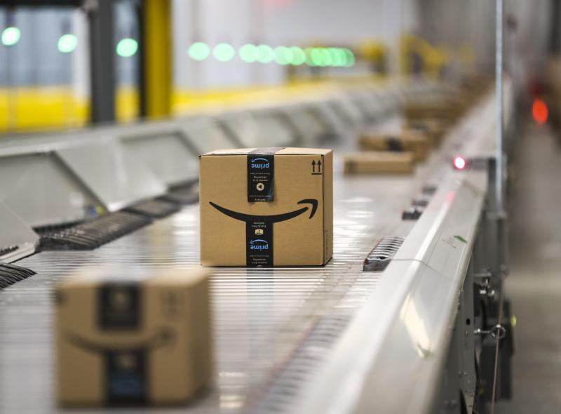 BRAMPTON, ON - The highly automated facility in the Steeles and Winston Churchill Blvd area in Brampton handled millions of products. packages, presents, shopping, shipping, and packing. (Getty Images)