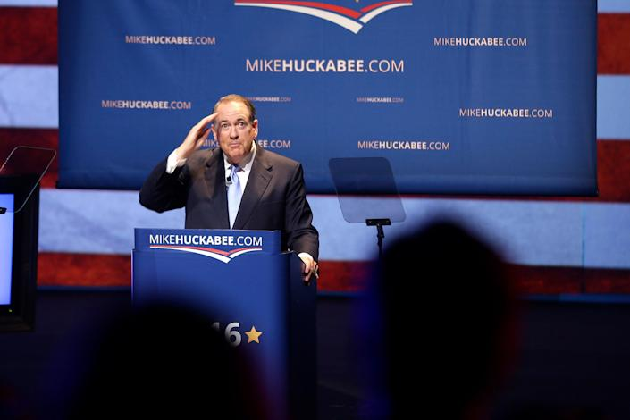 Huckabee announced he was <a href=&quot;http://www.huffingtonpost.com/entry/mike-huckabee-2016_us_560bf437e4b0768126fff8de&quot;>suspending his campaign</a> on Feb. 1, 2016.