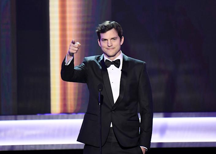 """Ashton Kutcher spoke out onstage as host of the 23rd annual Screen Actors Guild Awards on Jan. 29, 2017. His remarks camejust two days after President Donald Trump signed an executive orderbarring citizens of seven Muslim-majority nations from entering the United States for three months.<br /><br />""""Everyone in airports that belong in my America! You are part of the fabric of who we are, and we we love you and we welcome you."""""""