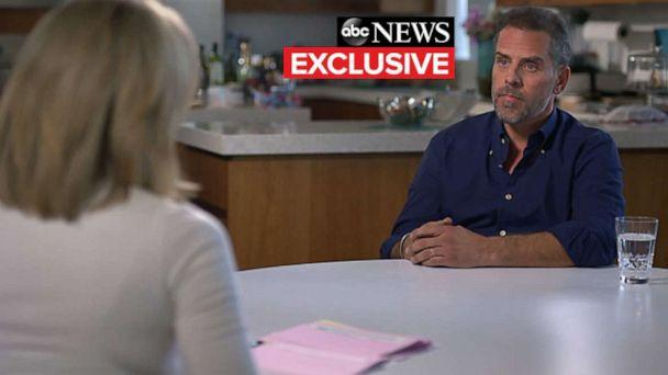 PHOTO: ABC's Amy Robach talks with Hunter Biden. (ABC News)