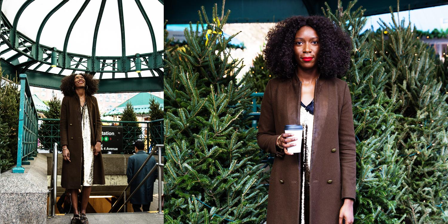 Christmas with the fam calls for cozy and chic ensembles. (Photos: Casey Hollister for Yahoo Lifestyle)