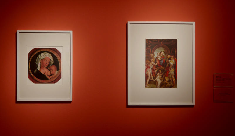 """This June 2012 photo released by the Malba Museum shows works by Argentine artist Leon Ferrari at his last exhibit at this museum named """"Brailles y relecturas de la Biblia"""" in Buenos Aires, Argentina. Ferrari died on July 25, 2013 in Buenos Aires, according to his family foundation. He was 92. (AP Photo/Malba Museum)"""