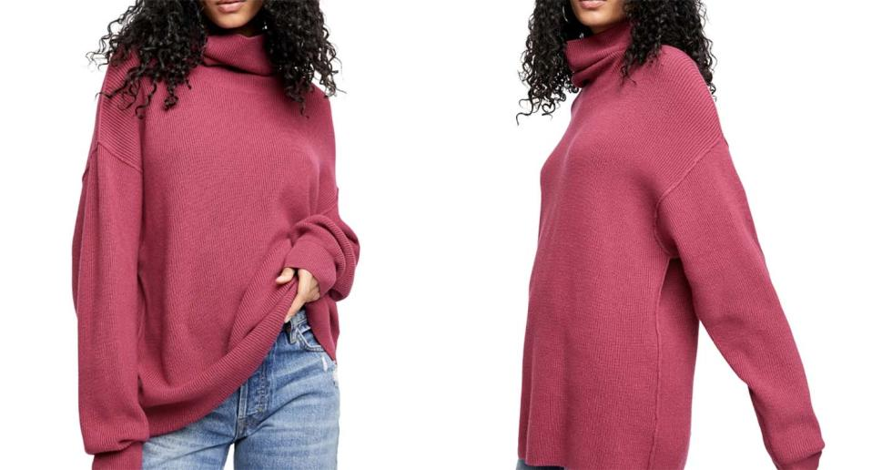 This gorgeous rosy sweater is perfect for Valentine's Day — and it's nearly half off.