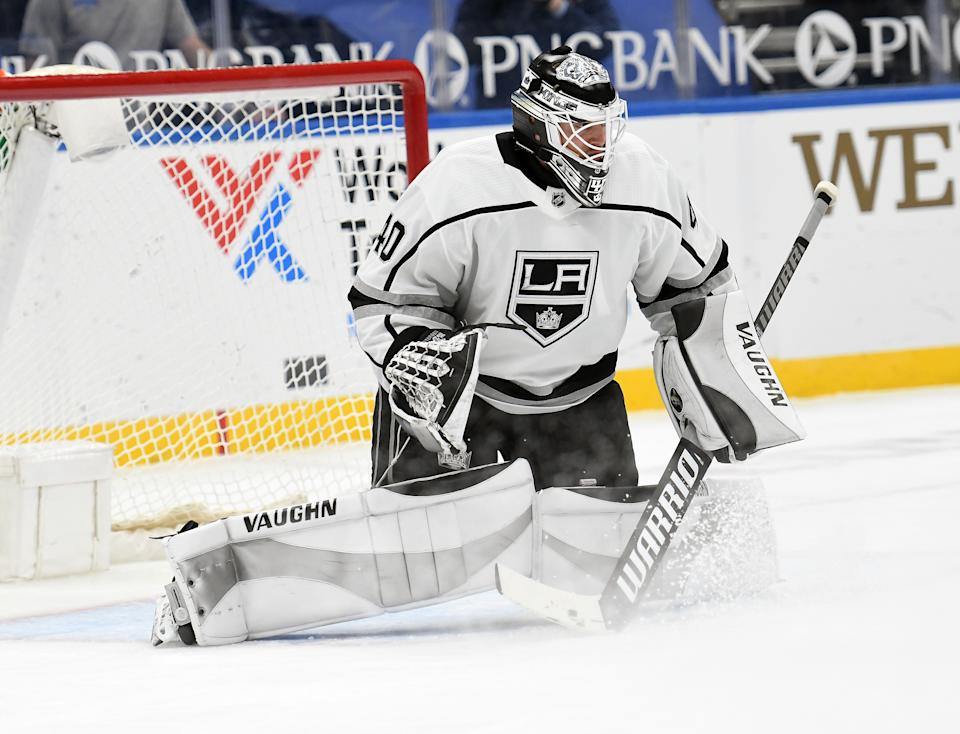 Los Angeles Kings goaltender Cal Petersen (40)
