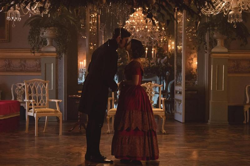 Comfort and joy: Tom Hughes as Albert and Jenna Coleman as Victoria (ITV)