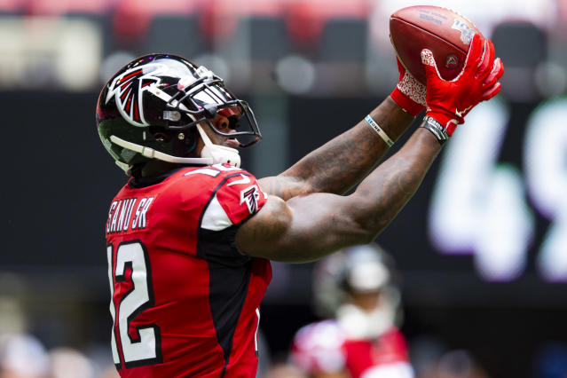 Mohamed Sanu is reportedly headed to the New England Patriots. (Photo by Carmen Mandato/Getty Images)
