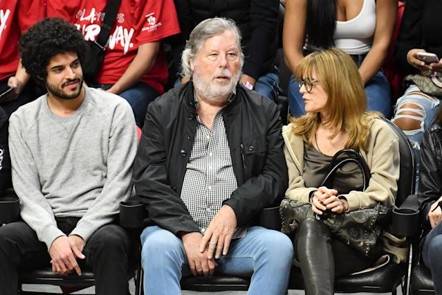 Steve Wozniak attends an NBA playoffs basketball game between the Los Angeles Clippers and the Golden State Warriors at Staples Center on April 18, 2019 in Los Angeles, California. (Photo by Allen Berezovsky/Getty Images)
