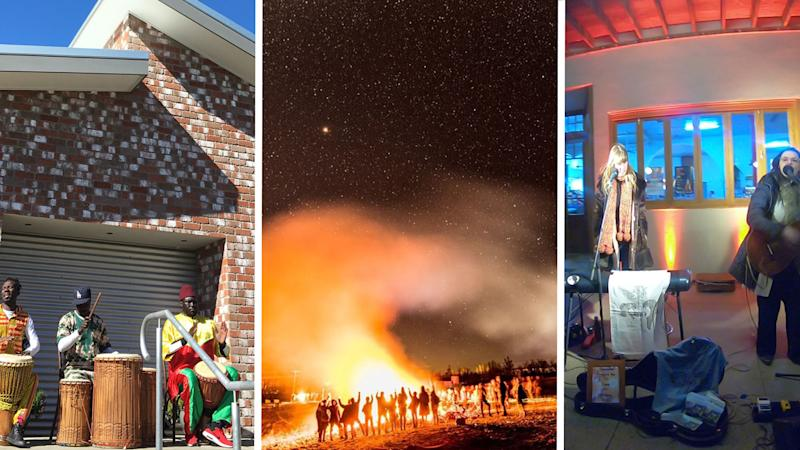 The first ever Winter Fire Festival launched with a bang! Source: Yahoo7 Be/Orange 360