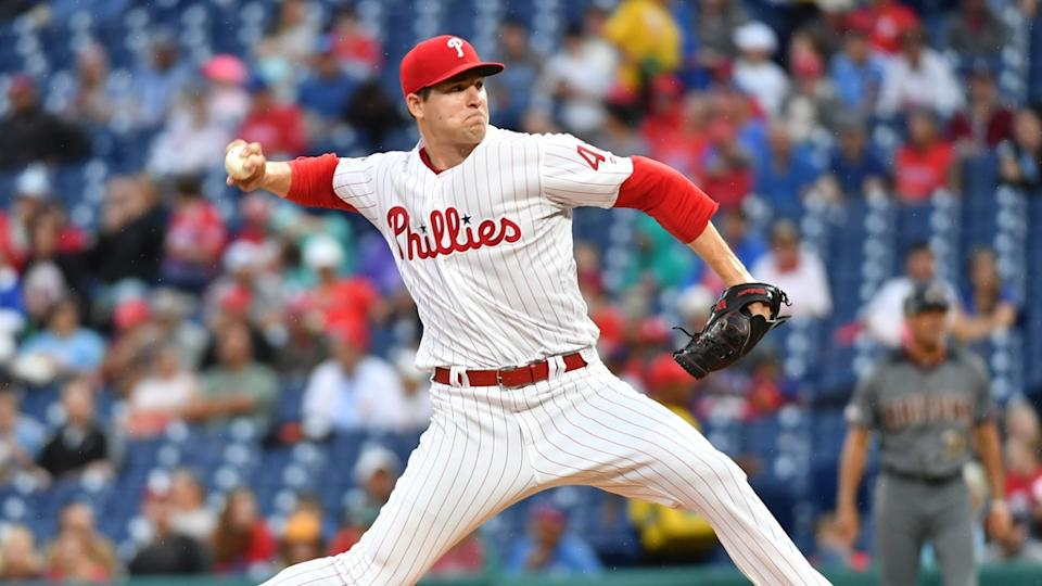 Jerad Eickhoff pitches for Phillies