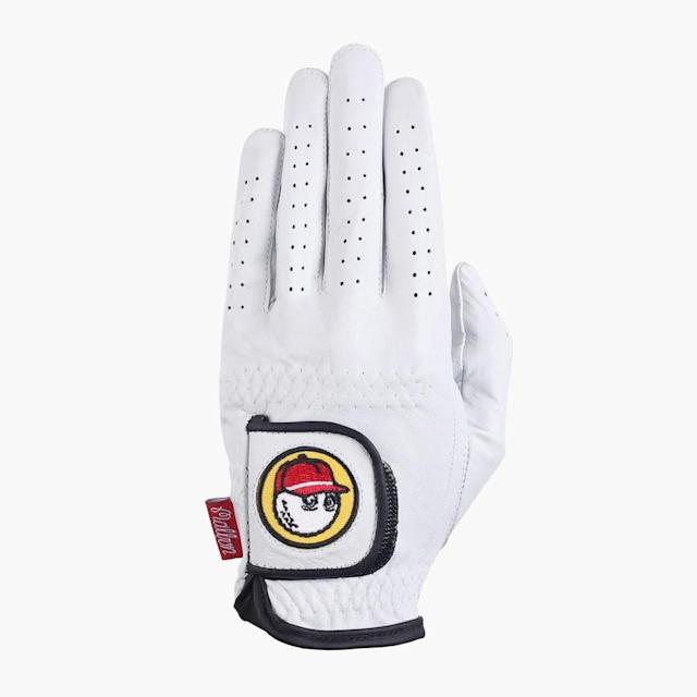 "<p>Lift dad's cool factor with this golf glove from the newest and coolest golf brand, Malbon Golf. Based on the ultra-hip Fairfax Ave in Los Angeles, Malbon Golf has taken the golf world by storm dropping unique and stylish pieces that fly off the shelves—so don't delay on your order because it might be out of stock before you type your credit card number in.</p> <p><strong><a href=""https://malbongolf.com/collections/all/products/white-glove-red-hat-golf-gloves"" rel=""nofollow noopener"" target=""_blank"" data-ylk=""slk:malbongolf.com"" class=""link rapid-noclick-resp"">malbongolf.com</a></strong>/$28</p>"