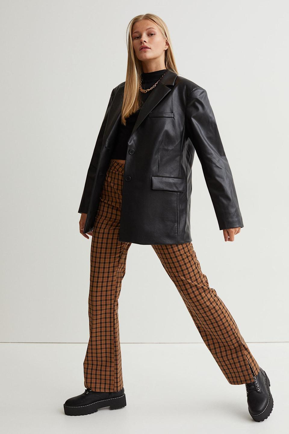 <p>This <span>Faux Leather Jacket</span> ($60) feels retro-inspired, yet it looks contemporary. It's an effortless way to give any look an edge.</p>