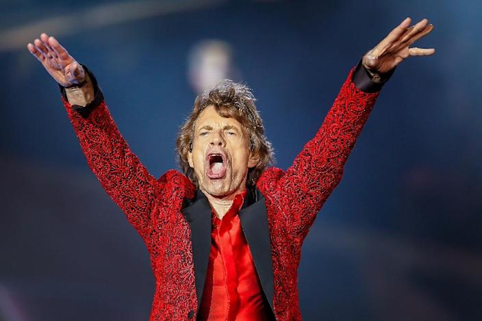 """Time is no longer on the side of rock's legends such as Mick Jagger, pictured in 2015, who is """"on the mend"""" following a heart valve procedure (AFP Photo/Michael Hickey)"""