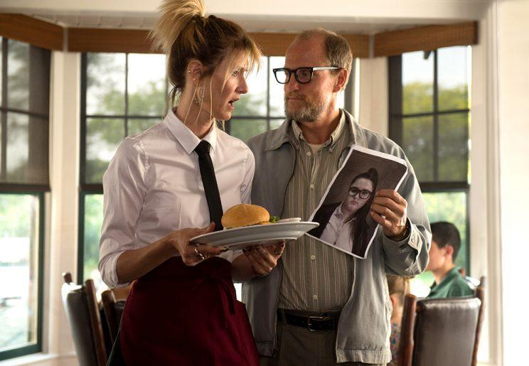 Laura Dern and Woody Harrelson in the film 'Wilson' (Photo: Fox Searchlight)