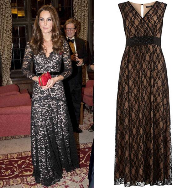 "<a target=""_blank"" href=""http://uk.lifestyle.yahoo.com/photos/top-10-best-dressed-celebrities-this-week-2-8-nov-slideshow/kate-middleton-photo--432801719.html""><b>Best dressed celebrity this week (2-8 Nov) - Kate Middleton</b></a><br><br>  <a target=""_blank"" href=""http://uk.lifestyle.yahoo.com/top-10-best-dressed-celebrities--what%E2%80%99s-your-favourite-look---2-8-nov-.html"">You voted</a> for Catherine as your best dressed, now get get her red carpet look with this stunning black lace maxi dress with nude lining and an embellished satin waistband. Team yours with a red clutch like Kate's for instant glamour. <br><br> <a target=""_blank"" href=""http://www.dorothyperkins.com/webapp/wcs/stores/servlet/ProductDisplay?catalogId=33053&storeId=12552&productId=7866938&categoryId=208614&langId=-1&cmpid=Lynku"">Black and nude lace maxi dress - £55 - Dorothy Perkins</a>"