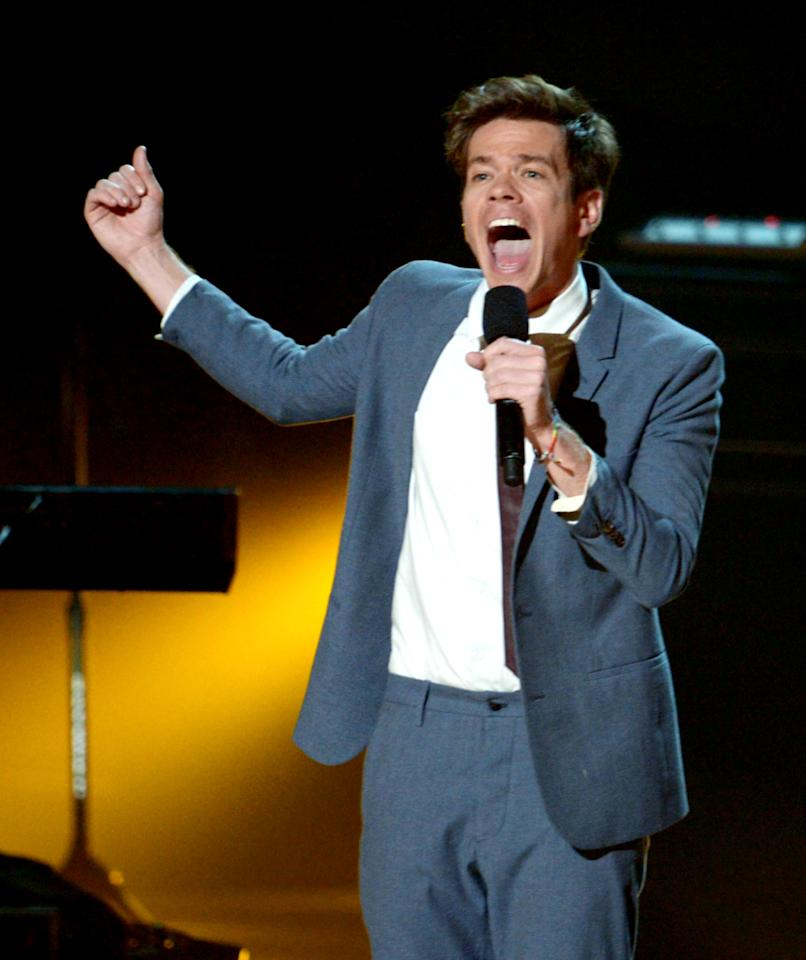LOS ANGELES, CA - AUGUST 14:  Singer Nate Ruess of fun. performs at CBS' Teachers Rock Special live concert at the Nokia Theatre L.A. Live on August 14, 2012 in Los Angeles, California.  (Photo by Kevin Winter/Getty Images)