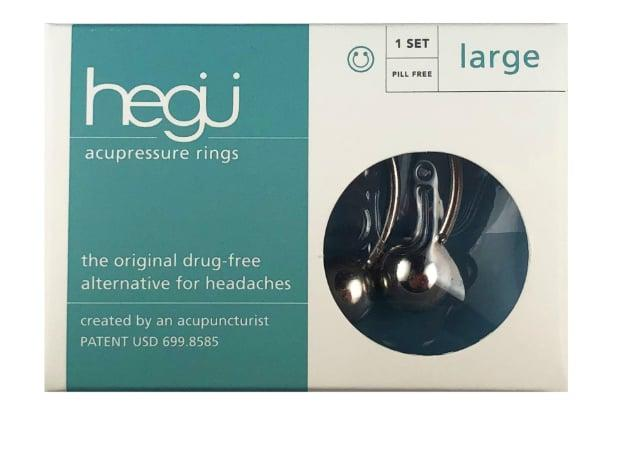 """<p>Similarly to Aculief, the <a href=""""https://www.popsugar.com/buy/Hegu-acupressure-ring-543563?p_name=Hegu%20acupressure%20ring&retailer=hegurings.com&pid=543563&price=55&evar1=fit%3Aus&evar9=47151034&evar98=https%3A%2F%2Fwww.popsugar.com%2Ffitness%2Fphoto-gallery%2F47151034%2Fimage%2F47151068%2FHegu&list1=healthy%20living&prop13=api&pdata=1"""" rel=""""nofollow"""" data-shoppable-link=""""1"""" target=""""_blank"""" class=""""ga-track"""" data-ga-category=""""Related"""" data-ga-label=""""https://hegurings.com/buy-now/Hegu-acupressure-rings-LARGE-p11682815"""" data-ga-action=""""In-Line Links"""">Hegu acupressure ring</a> ($55) stimulates the pressure point between the thumb and forefinger to ease headache pain and boost energy just after 20 minutes of use. What separates the Hegu ring from other similar products is that it can be used on feet acupressure spots, too.</p>"""