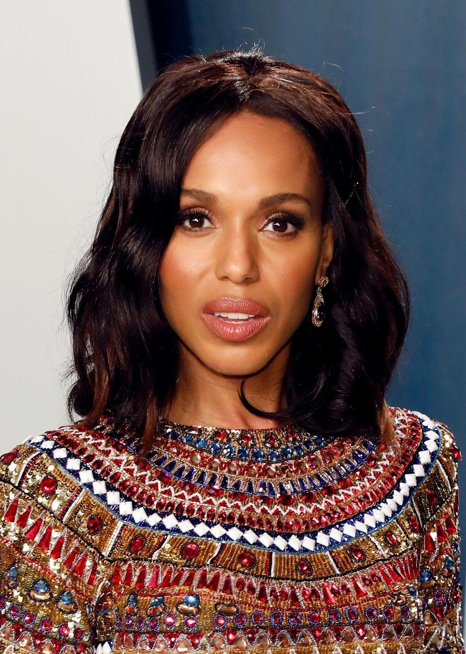 <p>Go for an allover chestnut tint like <strong>Kerry Washington</strong>. This dark, cherry-toned brown would look gorgeous on anyone. </p>