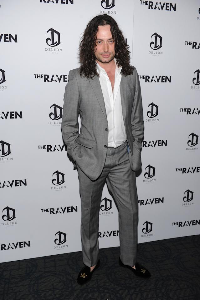"NEW YORK, NY - APRIL 16:  Constantine Maroulis attends ""The Raven"" New York Red Carpet Screening Event at Landmark Sunshine Cinema on April 16, 2012 in New York City.  (Photo by Dimitrios Kambouris/Getty Images For Relativity Media)"