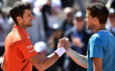 <span>Djokovic's bid to hold all four slam titles again was thwarted by Thiem at Roland Garros</span> <span>Credit: AFP </span>