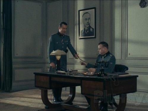 Gestapo threat: the film paints a bleak, unromantic view of the Resistance (Screengrab)