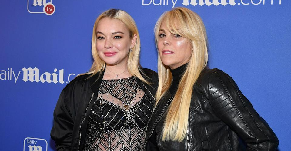 Dina Lohan with daughter Lindsay. (Getty Images)