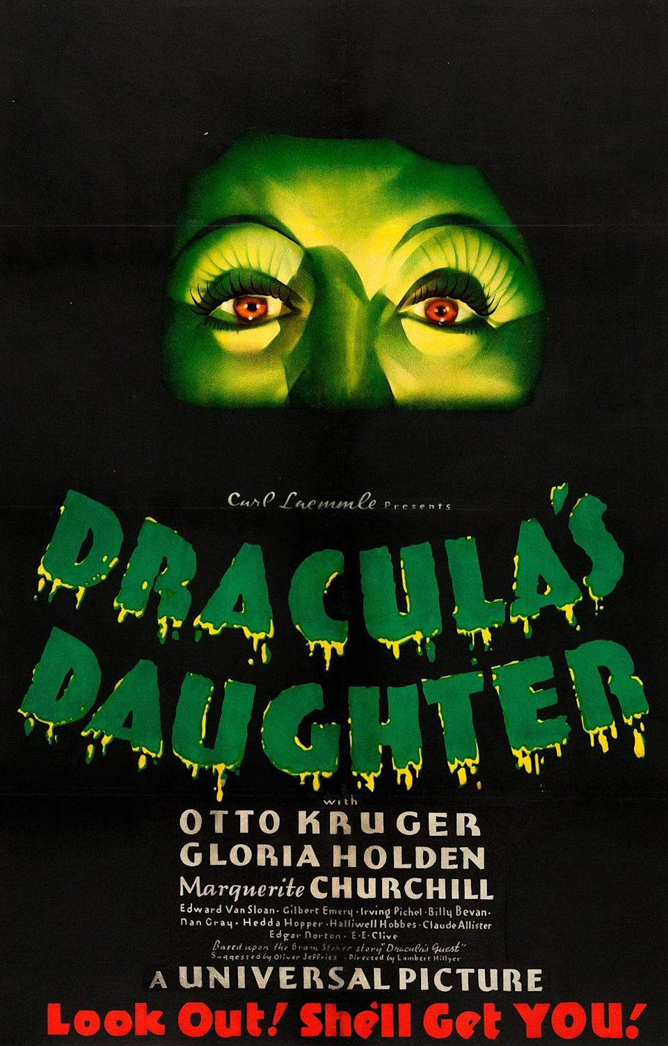 The original poster for Dracula's Daughter, the last movie in Universal's original horror cycle.