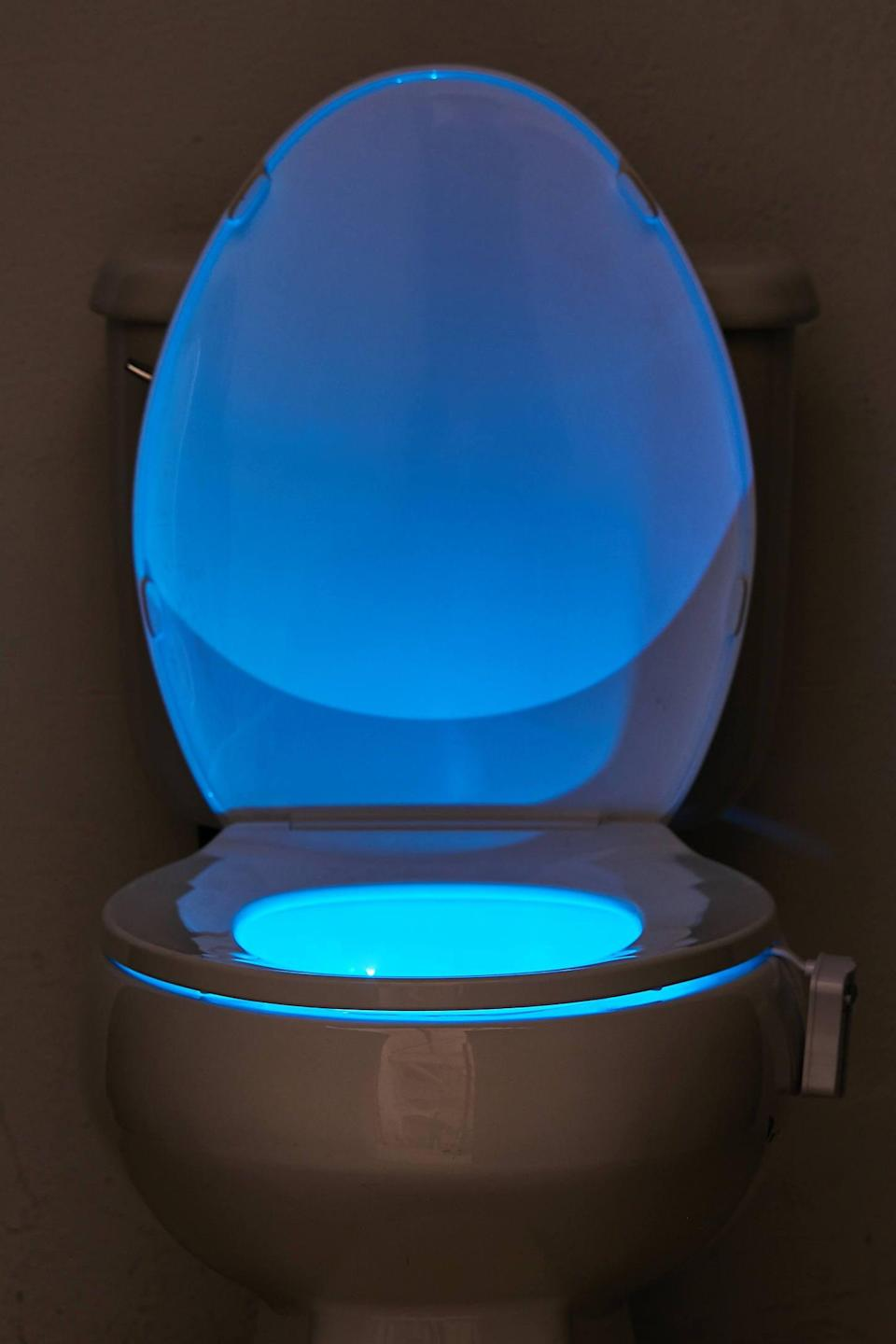 <p>Believe it or not, this <span>LED Toilet Night Light</span> ($10) will come in handy.</p>