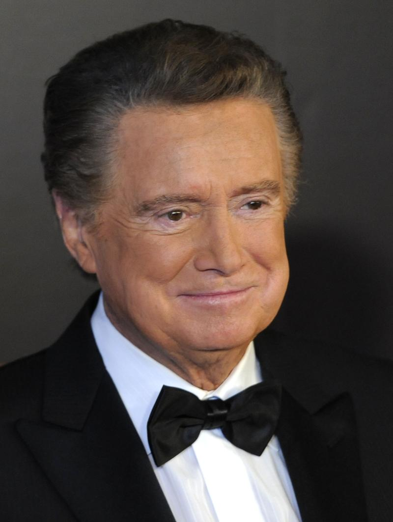 "FILE - In this June 27, 2010 photo, host Regis Philbin arrives at the 37th Annual Daytime Emmy Awards, in Las Vegas. It Books announced Monday, May 9, 2011 that Philbin, the retiring star of ""Live! With Regis and Kelly,"" has a memoir coming this fall, in which he will reflect on his decades-long television career, including stories about ""Live!"" co-host Kelly Ripa and her predecessor Kathie Lee Gifford, as well as interactions with celebrities. (AP Photo/Chris Pizzello, File)"