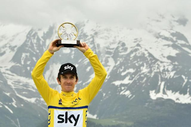 Welsh rider Geraint Thomas supplied Team Sky with their sixth Criterium du Dauphine success in the past eight years on Sunday (AFP Photo/Philippe LOPEZ)