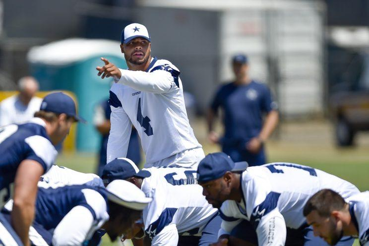Dak Prescott is the central figure in the Dallas Cowboys' plan for the future. (AP)
