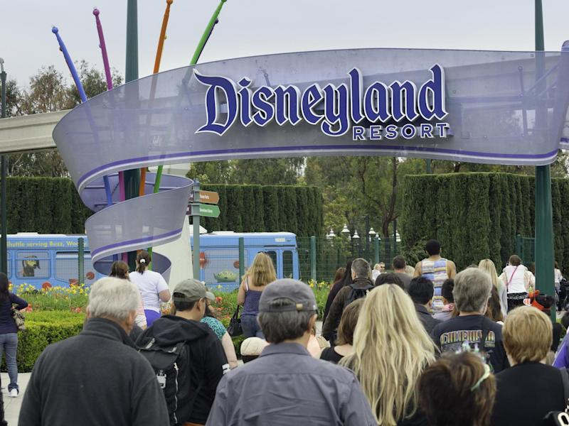 A large group of people entering the Disneyland Resort in Anaheim, where Disneyland Park and Disney California Adventure Park are located: Getty Images