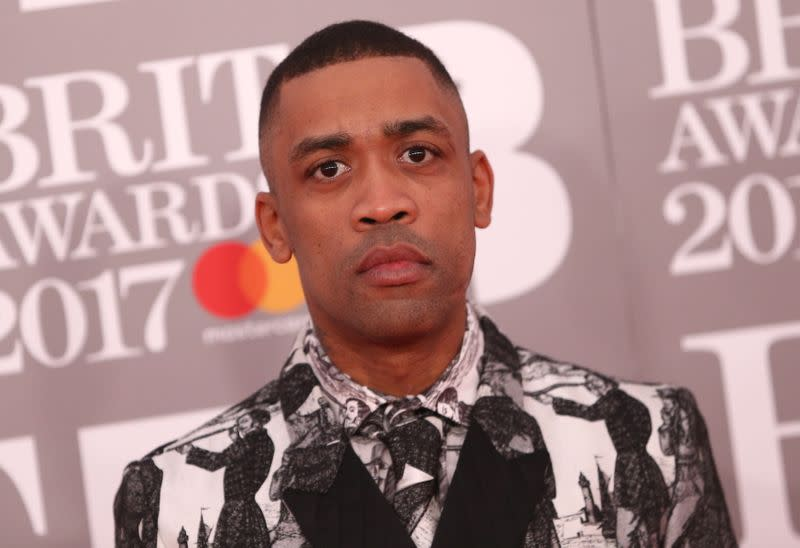 Wiley arrives for the Brit Awards at the O2 Arena in London,
