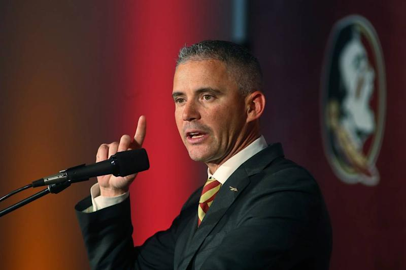 How did FSU coach Mike Norvell end up with a viral cornrows photo? He lost this bet.