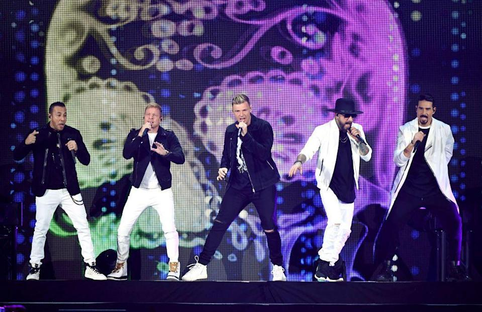 """<p>In an era filled with boy bands, the quintet <a href=""""https://www.youtube.com/watch?v=2CDz2prbPeo"""" rel=""""nofollow noopener"""" target=""""_blank"""" data-ylk=""""slk:showed off their dance moves"""" class=""""link rapid-noclick-resp"""">showed off their dance moves</a> in 1993, without much fanfare. The band had a few hit songs in Europe, it wasn't until a few years later with """"Quit Playing Games (with My Heart)"""" that they really found their groove.</p>"""