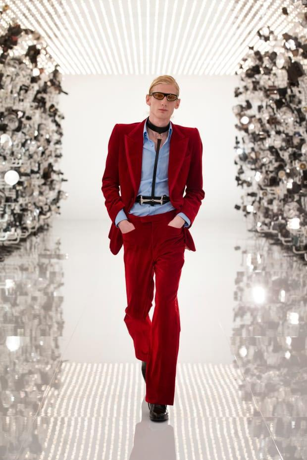<p>A look from Gucci's Aria collection. Photo: Greg Avenel/Courtesy of Gucci</p>